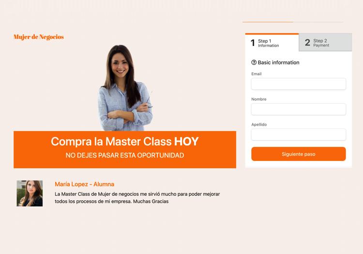Ejemplo 5 de plantilla de formularios de pago de PayForm