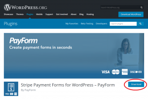 Acceps Stripe Subscriptions in WordPress using PayForm